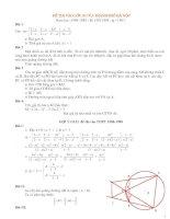 Đề thi toán vào lớp 10 từ năm 1988- 2013 có lời giải