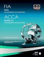Tài liệu ACCA mới nhất từ BPP  môn F2