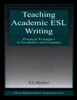 Tài liệu Teaching academic ESL writing part 1 doc