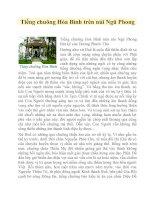 Tài liệu Tiếng chuông Hòa Bình trên núi Ngũ Phong pptx