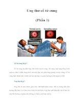 Tài liệu Ung thư cổ tử cung (Phần 1) ppt