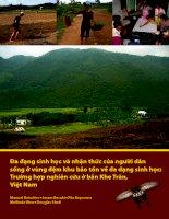 Tài liệu Đa đạng sinh học và nhận thức của người dân sống ở vùng đệm khu bảo tồn ... docx