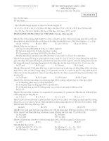 Tài liệu Đề thi thử đại học môn Hóa lần 2 2009 - THPT Đô Lương 1(Mã đề 229) doc