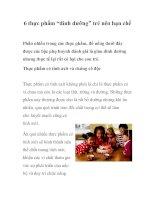 """Tài liệu 6 thực phẩm """"dinh dưỡng"""" trẻ nên hạn chế pdf"""