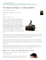 The about us page in a social world