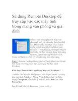 Tài liệu Sử dụng Remote Desktop để truy cập vào các máy tính trong mạng văn phòng và gia đình doc