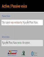 Tài liệu 09) Passive and Active voice doc