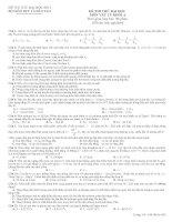 Tài liệu Đề thi thử ĐH số 5 môn Vật lý khối A + đáp án doc