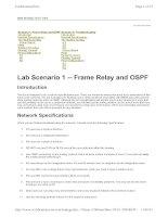 Tài liệu Lab Scenario 1 -- Frame Relay and OSPF pdf