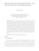 Bước đầu nhận xét nội dung ngữ âm trong các sách dạy tiếng việt của hàn quốc hiện nay