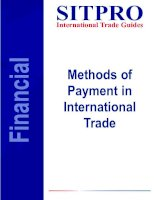 Tài liệu Methods of Payment in International Trade pdf