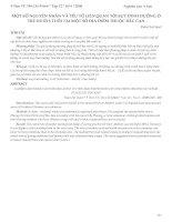 Tài liệu MỘT SỐ NGUYÊN NHÂN VÀ YẾU TỐ LIÊN QUAN TỚI SỨUY DINH DƯỠNG Ở TRẺ DƯỚI 5 TUỔI TẠI MỘT SỐ ĐỊA ĐIỂM THUỘC TỈNH BẮC CẠN pptx