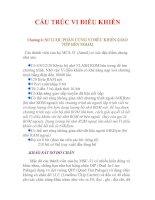 Tài liệu CẤU TRÚC VI ĐIỀU KHIỂN Chương 2: SƠ LƯỢC PHẦN CỨNG VI ĐIỀU KHIỂN-GIAO TIẾP pdf