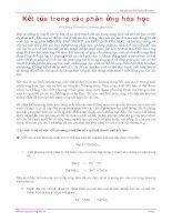 Tài liệu Kết tủa trong các phản ứng hóa học luyện thi pptx