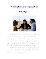 Tài liệu Những lời khuyên giúp bạn tìm việc pptx