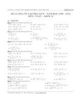 Tài liệu Đề cương ôn thi toán lớp 10 học kỳ 2 docx