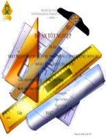 THIẾT kế, lắp đặt mô HÌNH hệ THỐNG CUNG cấp NHIÊN LIỆU ĐỘNG cơ DIESEL DÙNG bơm CAO áp dãy