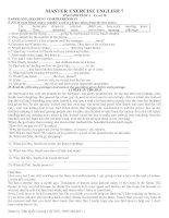 Tài liệu Thi tiếng anh cao học pdf