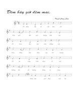 Tài liệu Bài hát đêm bây giờ đêm mai - Trịnh Công Sơn (lời bài hát có nốt) pdf