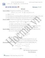 Tài liệu Đề và đáp án thi thử đại học môn Toán 2010_Đề số 2 doc