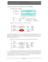 Tài liệu Hướng dẫn tự học PLC CPM1 qua hình ảnh Chương 5: Các lệnh phổ biến khác trong lập trình doc