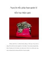 Tài liệu Nguyên tắc giúp bạn quản lý tiền bạc hiệu quả ppt