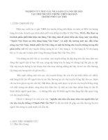 NGHIÊN CỨU NHU CẦU MUA SẮM CỦA NGƯỜI DÂN  TẠI CHỢ TRUYỀN THỐNG TRÊN ĐỊA BÀN  THÀNH PHỐ CẦN THƠ.