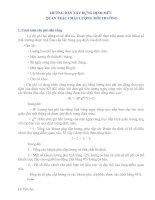 Tài liệu HƯỚNG DẪN XÂY DỰNG ĐỊNH MỨC QUAN TRẮC CHẤT LƯỢNG MÔI TRƯỜNG ppt