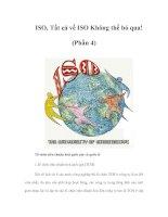 Tài liệu ISO, Tất cả về ISO Không thể bỏ qua! (Phần 4) Tổ chức tiêu chuẩn hoá quốc pdf