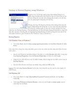 Tài liệu Backup và Restore Registry trong Windows P1 ppt
