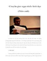 Tài liệu Chuyển giao ngọn đuốc lãnh đạo (Phần cuối) pdf