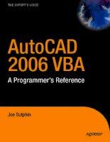 Tài liệu Vẽ kỹ thuật với Autocad 2006 P1 doc