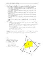 Tài liệu Phương Pháp Giảng Dạy Hình Học lớp 11 - Phần Thiết diện pptx