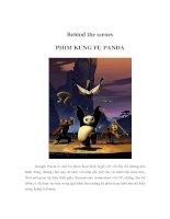 Tài liệu Behind the scenes - PHIM KUNG FU PANDA pdf