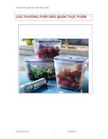 Tài liệu Các phương pháp bảo quản thực phẩm pdf