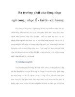 Tài liệu Ba trường phái của dòng nhạc ngũ cung : nhạc lễ - tài tử - cải lương docx