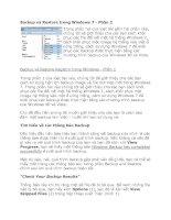 Tài liệu Backup và Restore trong Windows 7 - Phần 2 ppt
