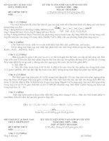 Tài liệu KỲ THI TUYỂN SINH VÀO LỚP 10 CHUYÊN NĂM HỌC 2005 – 2006 MÔN THI: HÓA HỌC pptx