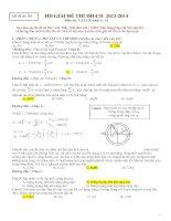 hướng dẫn giải bộ đề thi đại học môn vật lý 2013