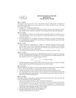 Tài liệu Đề và đáp án ôn thi hóa năm 2005 đề 1 ppt