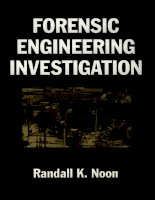 Tài liệu Forensic Engineering Investigation P1 pptx