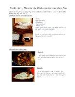 Tài liệu Sushi chay - Món ăn yêu thích của ông vua nhạc Pop pptx