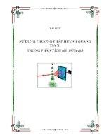 Tài liệu SỬ DỤNG PHƯƠNG PHÁP HUỲNH QUANG TIA X TRONG PHÂN TÍCH pH_197Snak3 pdf