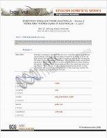 Tài liệu EVERYDAY ENGLISH FROM AUSTRALIA – Series 2.12 doc