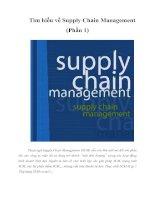 Tài liệu Tìm hiểu về Supply Chain Management (Phần 1) pptx