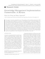 Tài liệu Knowledge Management Implementation Frameworks: A Review pdf