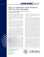 Tài liệu KRONE - Guide - How to implement Cost effective CCTV at customer premises pdf