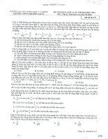 Đề thi thử môn Lý  có Đáp án của ĐH Khoa học Tự nhiên Hà Nội 2014 lần 1