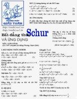 Tài liệu Bất đẳng thức Schur và ứng dụng doc