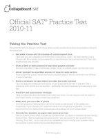 SAT practise test